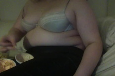 Chubby Girl Eating Potato Chips Big Belly Really Swollen Bbw - 31