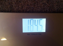 Current Weight 184kg