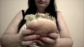 Eating A Burger