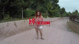Lucy's Outdoor Striptease