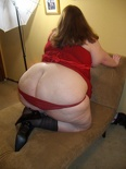 Paige Red and Stockings 157