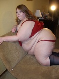 Paige Red and Stockings 162