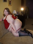 Paige Red and Stockings 163