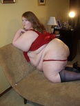 Paige Red and Stockings 165