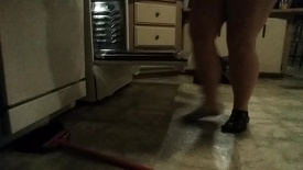 Fat House Wife Cleaning