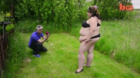 Fat Admirer Husband Loves Wife's Bountiful Body