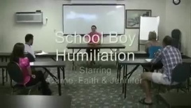 Carrie Faith & Jennifer - School Boy Humiliation