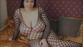 Kerry - Fishnet (Sweet Big B. Arab BBW M. Playing)