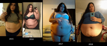 3 year weight gain 2015-2018