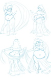 pack preview   sketchbook 7 belly dancing daisy by axel rosered d9s7ynp-pre