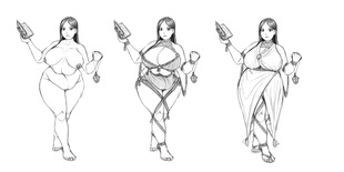 Sorceress Second Stage Concepts (Sketch) by FoxFire486 720271620